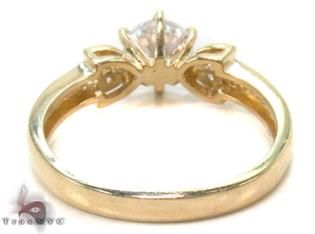 CZ 10k Gold Ring 33364 Anniversary/Fashion