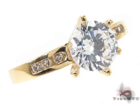 CZ 10k Gold Ring 33379 Anniversary/Fashion