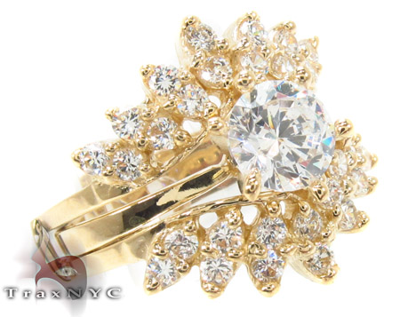 CZ 10k Gold Ring 33417 Anniversary/Fashion