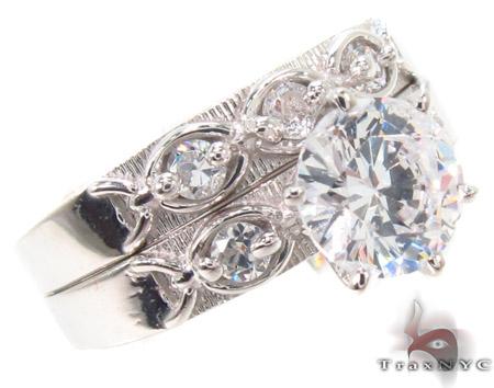 CZ 10k Gold Ring 33458 Anniversary/Fashion