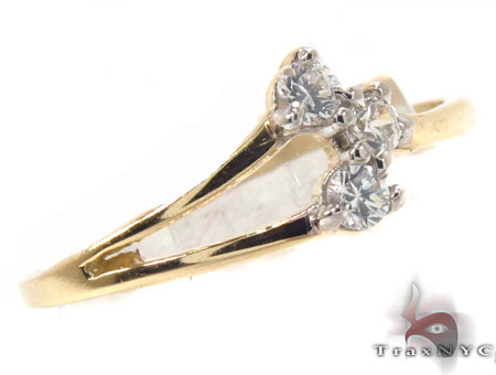 CZ 10k Gold Ring 33532 Anniversary/Fashion