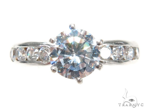 CZ Engagement Ring 40963 Engagement