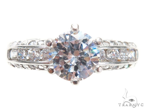 CZ Engagement Ring 40964 Engagement