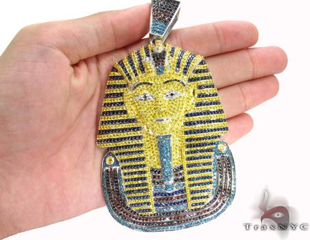 Custom Jewerly-CZ Silver Pharaoh Pendant Metal