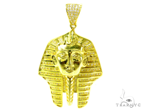 Custom Silver Pharaoh Pendant 36907 Metal