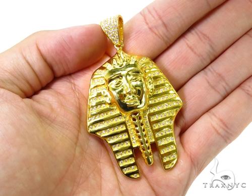 Custom Silver Pharaoh Pendant 36907 Metal