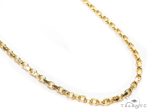 Cable Gold Chain 20 Inches 3mm 12.2 Grams 40915 Gold