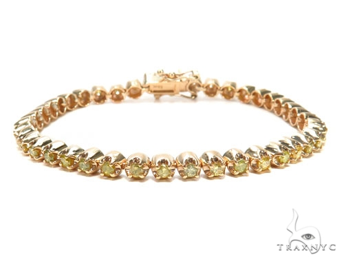 Canary Diamond Bracelet 9285 Mens Diamond Bracelet Yellow Gold 18k