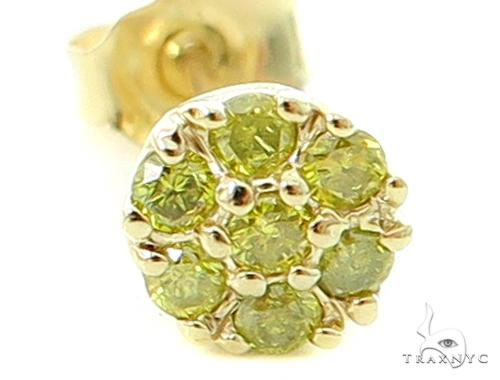 Canary Flower Earrings Stone