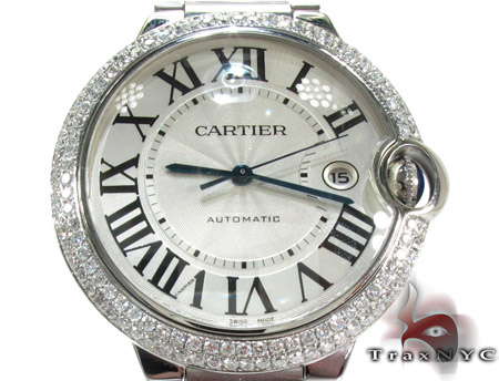 Cartier Ballon Bleu Diamond & Stainless Steel Watch Cartier