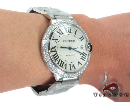 Cartier Ballon Bleu Diamond & Stainless Steel Watch Cartier