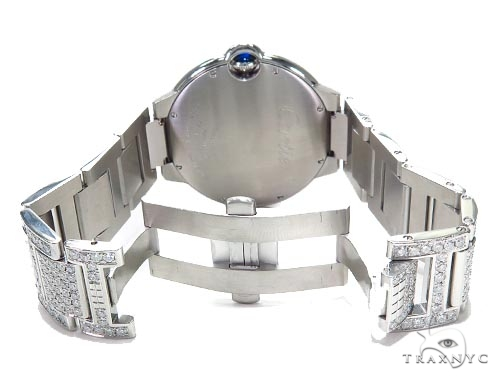 Cartier Ballon Bleu Full Diamond Automatic Watch 45217 Cartier