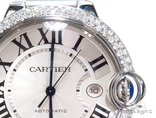 Cartier Ballon Bleu Stainless Steel Diamond Watch 45218 Cartier