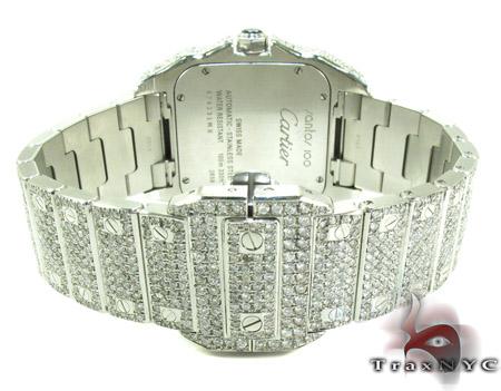 Cartier Santos 100 Large Full Diamond Watch Cartier