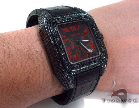 Cartier Santos Red Dial Watch Cartier