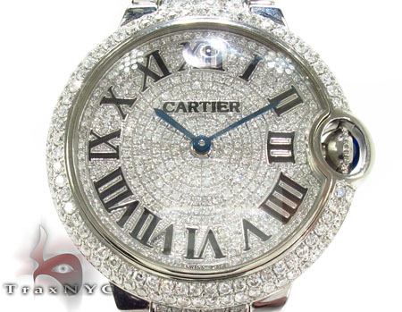 Cartier Ballon Bleu Full Diamond Automatic Watch Cartier