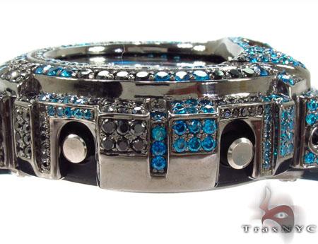 Casio G-Shock Blue & Black Silver CZ Watch G-Shock
