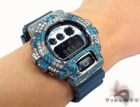Casio G-Shock Blue & White CZ Watch G-Shock