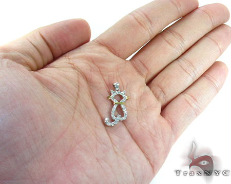 Cat Diamond Pendant Stone