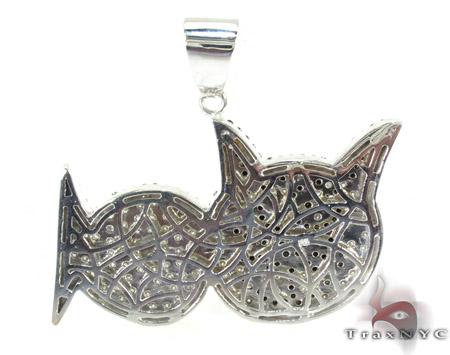Cat Fish Diamond Pendant Metal