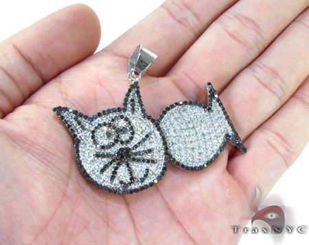 Cat Fish Diamond Pendant Metal