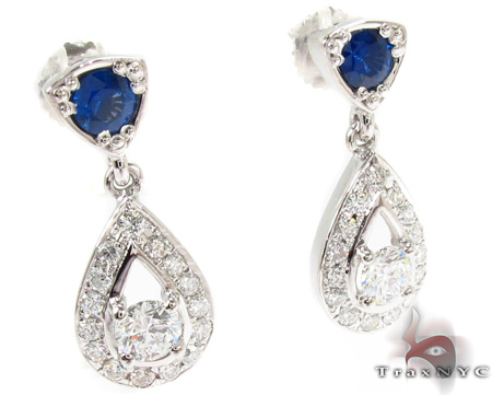 Ceylon Sapphire Diamond Earrings Style