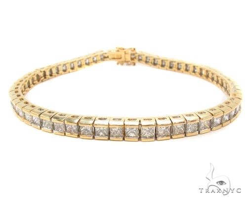 Channel Diamond Bracelet 35046 Tennis