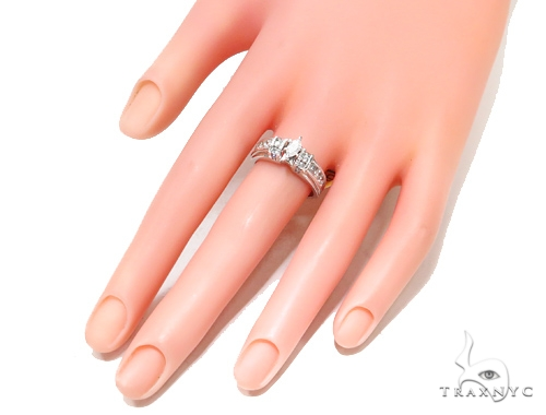 Channel Diamond Engagement Ring 44843 Engagement