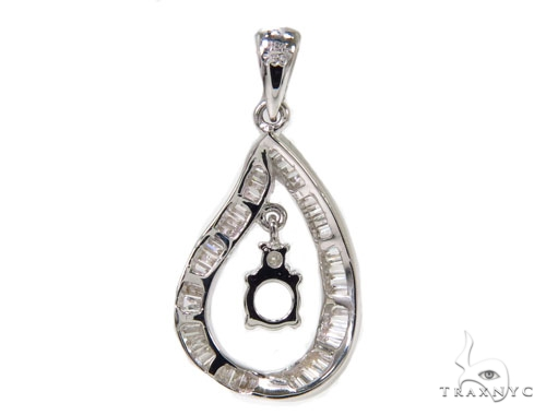 Channel Diamond Semi Mount Pendant 40140 Stone