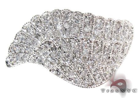 Clear CZ Filigree Wing Ring 21319 Anniversary/Fashion