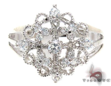 Clear CZ Rhodium Ring 21309 Anniversary/Fashion