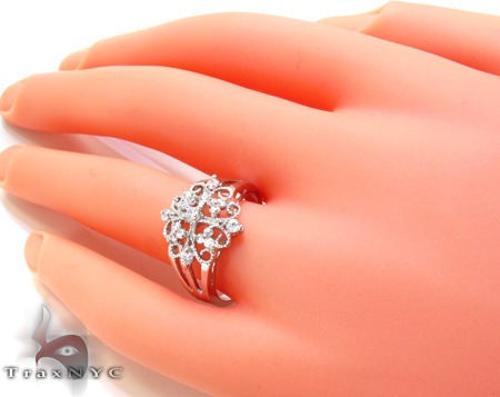 Clear CZ Rhodium Ring 21309 Anniversary/Fashion
