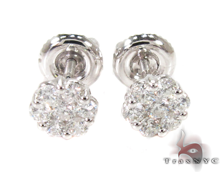 cluster stud earrings 27063 style white