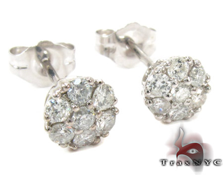 Cluster Diamond Stud Earrings Style