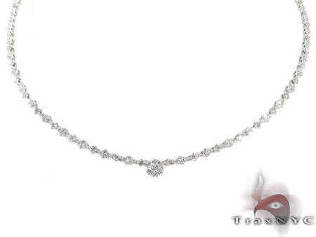 Orion White Gold Diamond Ladies Necklace Diamond