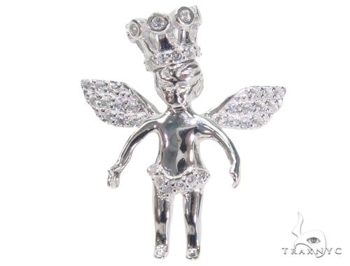 Crown Angel Silver Pendant 44637 Metal