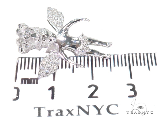Crown Angel Silver Pendant 44637 Metal