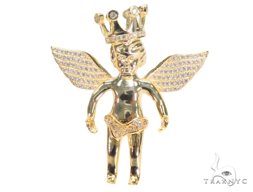 Crown Angel Silver Pendant 44638 Style