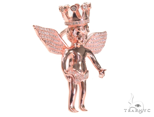 Crown Angel Silver Pendant 44639 Style