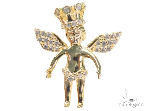 Crown Angel Silver Pendant 44646 Style