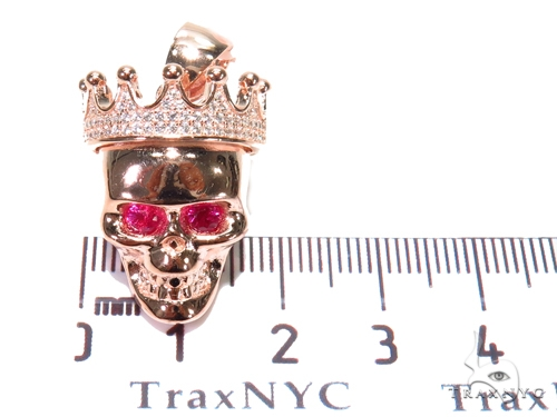 Crown Skull Sterling Silver Pendant 41165 Metal