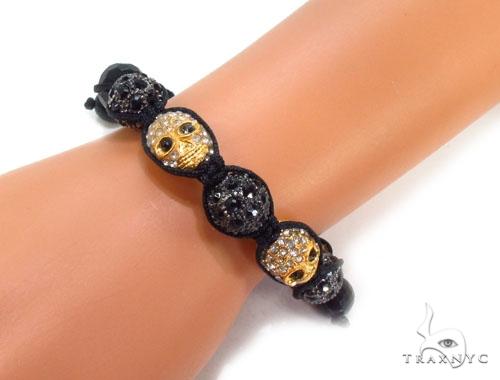 Crystal Shambala Rope Bracelet 37126 Gold