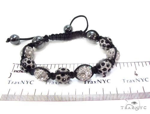 Crystal Shambala Rope Bracelet 37128 Gold