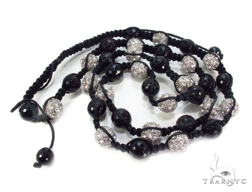 Crystal Shambala Rope n 32 Inches, 11mm, 152.8 Grams Silver