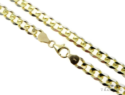 Cuban/Curb 14k Yellow Gold Chain 22 Inches 4.5mm 21.17 Grams 49537 Gold