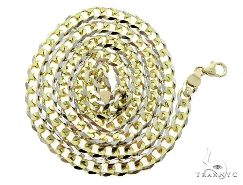 Cuban/Curb 14k Yellow Gold Chain 26 Inches 5mm 24.5 Grams 49541 Gold