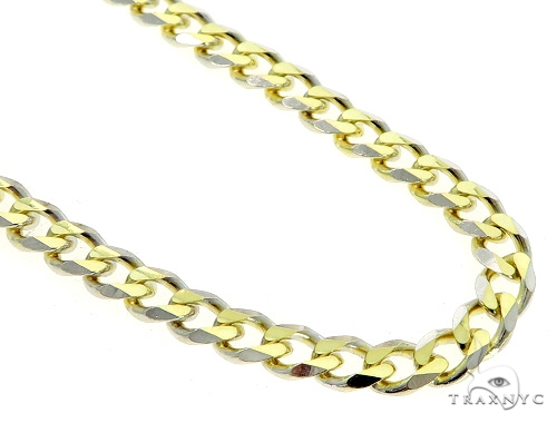Cuban/Curb 14k Yellow Gold Chain 28 Inches 6mm 50.1 Grams 49545 Gold