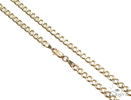 Curb Gold Chain 22 Inches 5mm 17.8 Grams 41407 Gold