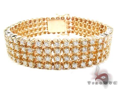 Custom 4 Row Diamond Bracelet Diamond
