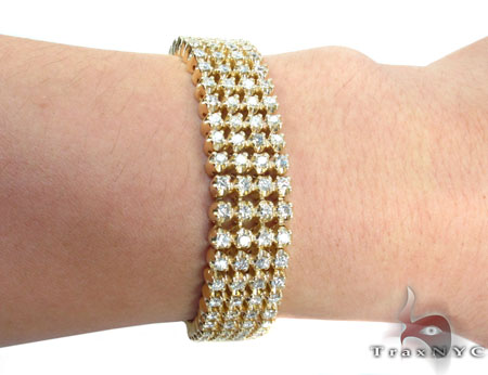 Custom 4 Row Diamond Bracelet Diamond